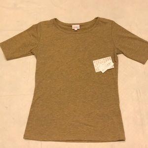 Lularoe Gigi shirt light mustard Size small NWT